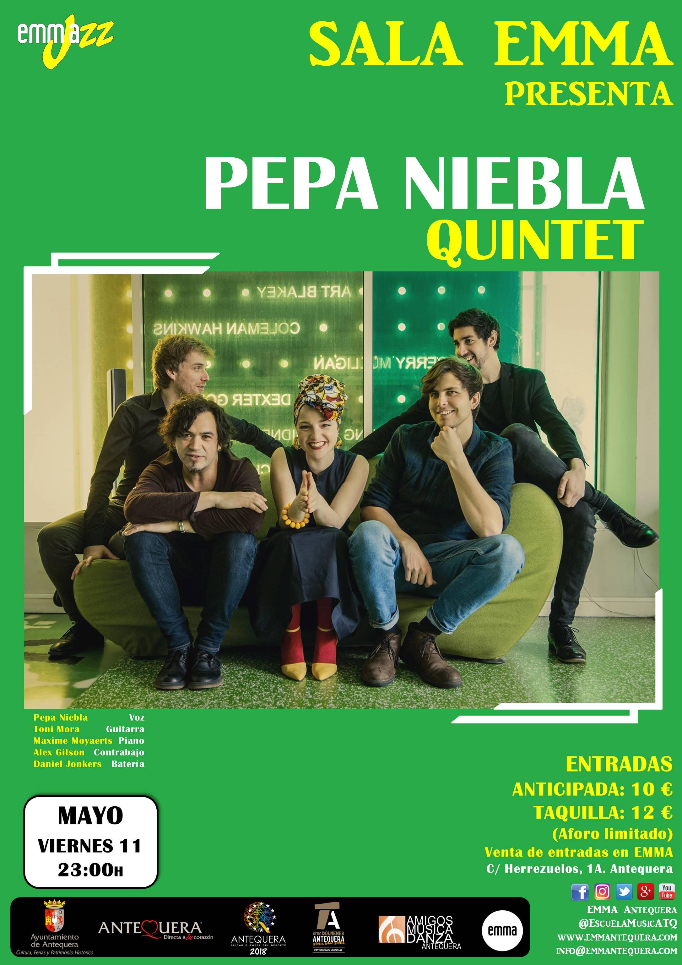 Concierto Pepa Niebla Quintet @ Sala EMMA, Escuela Municipal de Música de Antequera